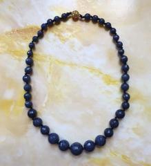 Ожерелье 100% натуральный граненый сапфир 8-16 мм
