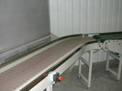 Conveyor lines, conveyor systems, elevators
