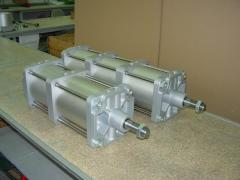 Pneumatic cylinders tandems of DNGT and DNGP are