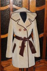 Fur coats from fur of a lamb