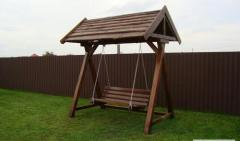 Swing for adults, the rounded bar