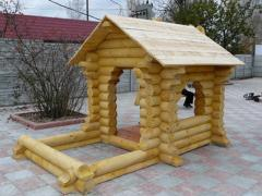 Lodge with a sandbox