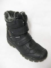 Boots children's and teenage on fur for boys