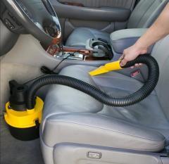 Автомобильный пылесос для сухой и влажной уборки