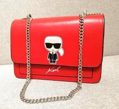 Классическая женская сумка Karl Lagerfeld красная