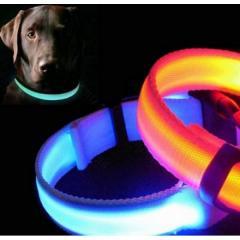 Ошейник LED светящийся узкий для небольших собак и