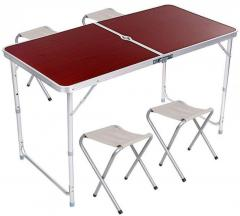 Стол алюминиевый раскладной для пикника + 4 стула,
