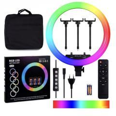 Кольцевая LED лампа RGB MJ-18, 436 диодов, 45 см