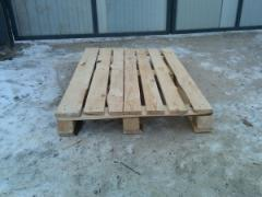 Pallets of 1200х800 mm it is executed from not cut