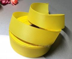РЕПСОВАЯ лента 2,5см 23 метра, лента репс жёлтый (сп7нг-5839)