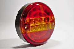 Фонарь задний круглый с полосой LED 24V