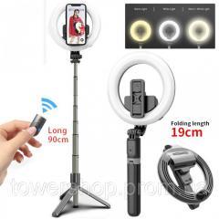 Кольцевая LED лампа L07 16 см с держателем для