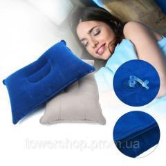 Надувная туристическая подушка для кемпинга, синяя