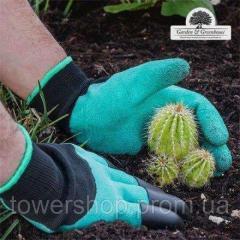 Перчатки садовые с когтями Garden Gloves для сада