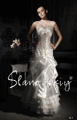 Платье свадебное, полуприлегающий силуэт Модель