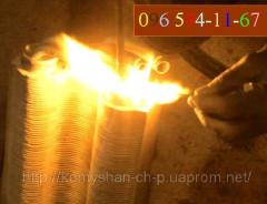 Soldering repair of the heat exchanger Ferroli