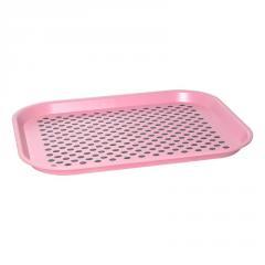 Поднос противоскользящее покрытие розовый