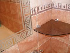 Влагостойкое зеркало в ванную. Нанесение