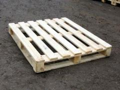 Wooden pallets and pallets available and under the