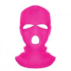Балаклава маска (Бандитка 3) Розовая 2, Унисекс
