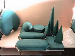 Floristic sponge cylinders, cones, the cut-off