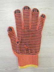 Перчатка вязанная с ПВХ точкой х/б