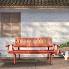 Скамейка деревянная садовая серии Лира