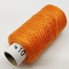 Нитки джинсовые, высокой прочности №10, оранжевые col.033 (РАВ-531)