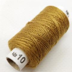 Нитки джинсовые, высокой прочности №10, золотые темные col. 039 (РАВ-533)
