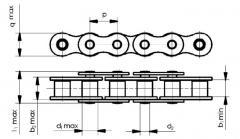Цепи приводные роликовые,роликовые цепи (B серии)