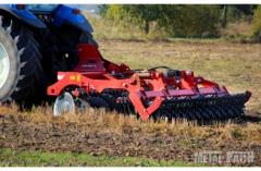 Hinged equipment for agricultural machinery. SIP,