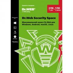 Антивирус Dr. Web Security Space 2 ПК/1 год...