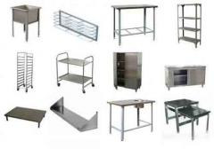 Furniture from stainless steel: tables, tables