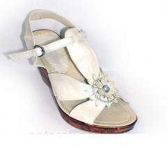 Women's slates summer with a white thong 10035