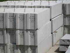 Runs reinforced concrete (concrete goods)