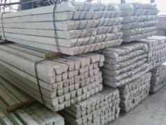 Columns reinforced concrete for fences (concrete