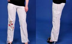 The trousers embroidered Embroideries