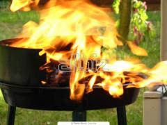 The barbecue is stree