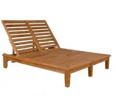 The chaise lounge is beach double, an alder