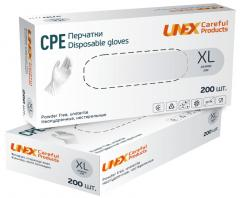 Перчатки CPE XL (9-10) белые Unex Medical Products