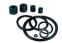 RUBBER cuffs, gaskets, belts, bushings for