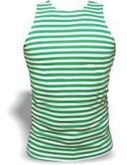 Тельняшка майка (зелёная)