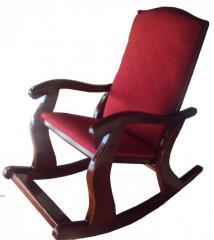 Кресло качалка Classic Орех - красный