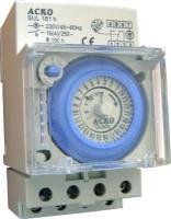 Таймер суточный АсКО SUL 181h 2-канальный 30мин