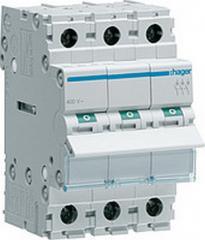Переключатель 1-0-2 (Hager-SFT340) 40А/400В,3метр