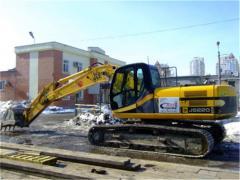 Excavators caterpillar (rent, services) | Antstroy
