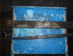 Veren, schokbrekers en dempers gemaakt van metaal