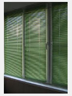 Blinds horizontal for plastic windows