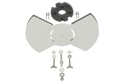 Air exchange damper; assembly