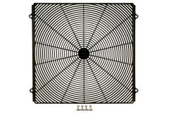 Fan grill; cond; square